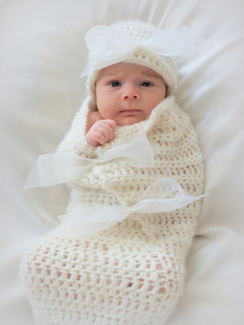 List of Easy Baby Cocoon Crochet Pattern Crochet Ba Cocoon And Hat Pattern Newborn Photo Prop Etsy