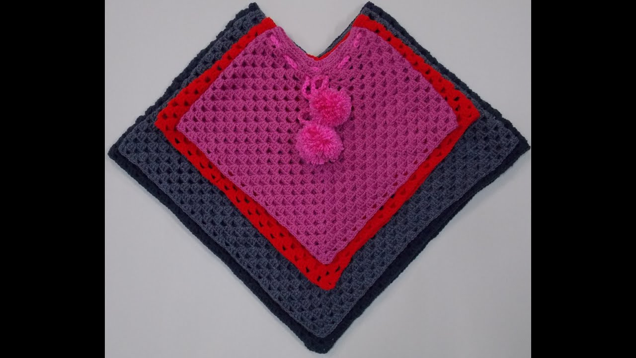 List of Free Crochet Patterns for Toddlers Ponchos Toddler Poncho Crochet Tutorial Youtube