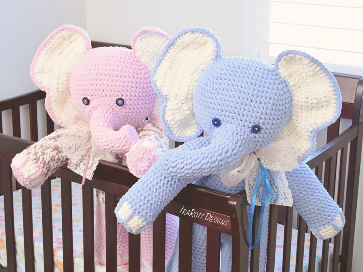 Quick Large Crochet Doll Patterns to Choose Josefina And Jeffery Big Amigurumi Elephants Pdf Crochet Pattern
