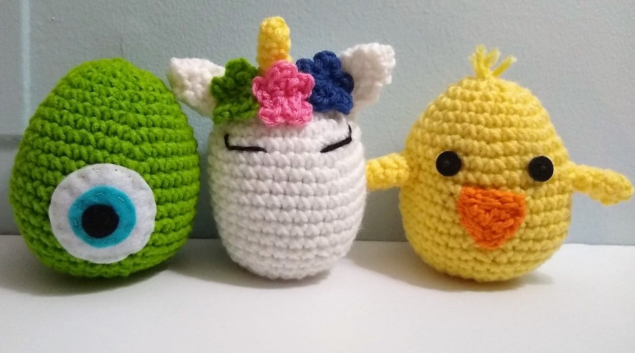 Quick Large Crochet Doll Patterns to Choose Large Crocheted Unicorn Egg Monster Egg Or Chick Egg Doll Perfect