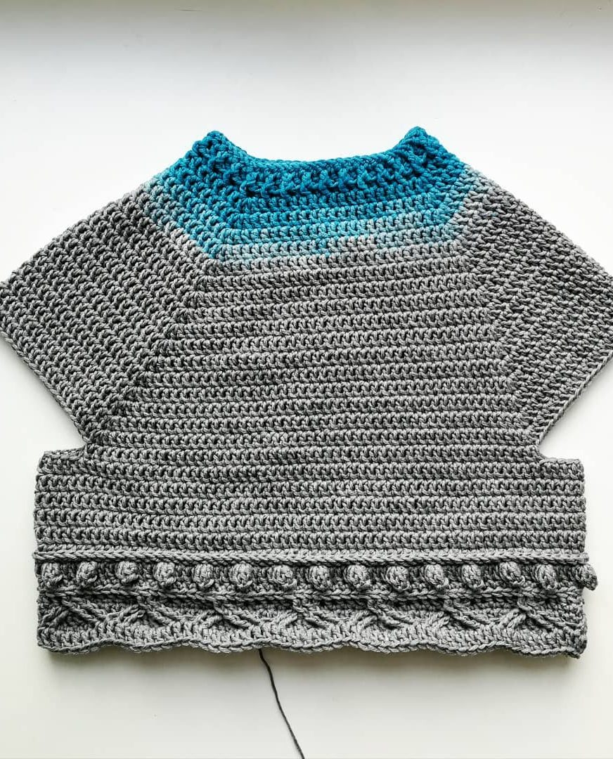 Simple Poncho Crochet Pattern Cute And Easy Stylish Sweater Cardigan Crochet Patterns Images For
