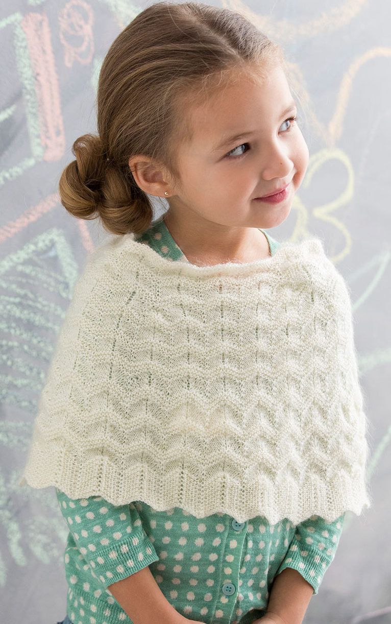 Simple Poncho Crochet Pattern Ponchos For Babies And Children In The Loop Knitting