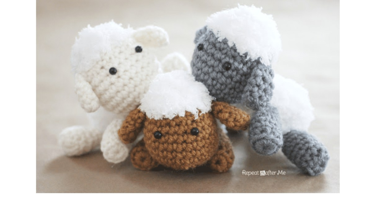 The Sweetest Crochet Lamb Patterns for Free Best Free Crochet Patterns From Repeat Crafter Me