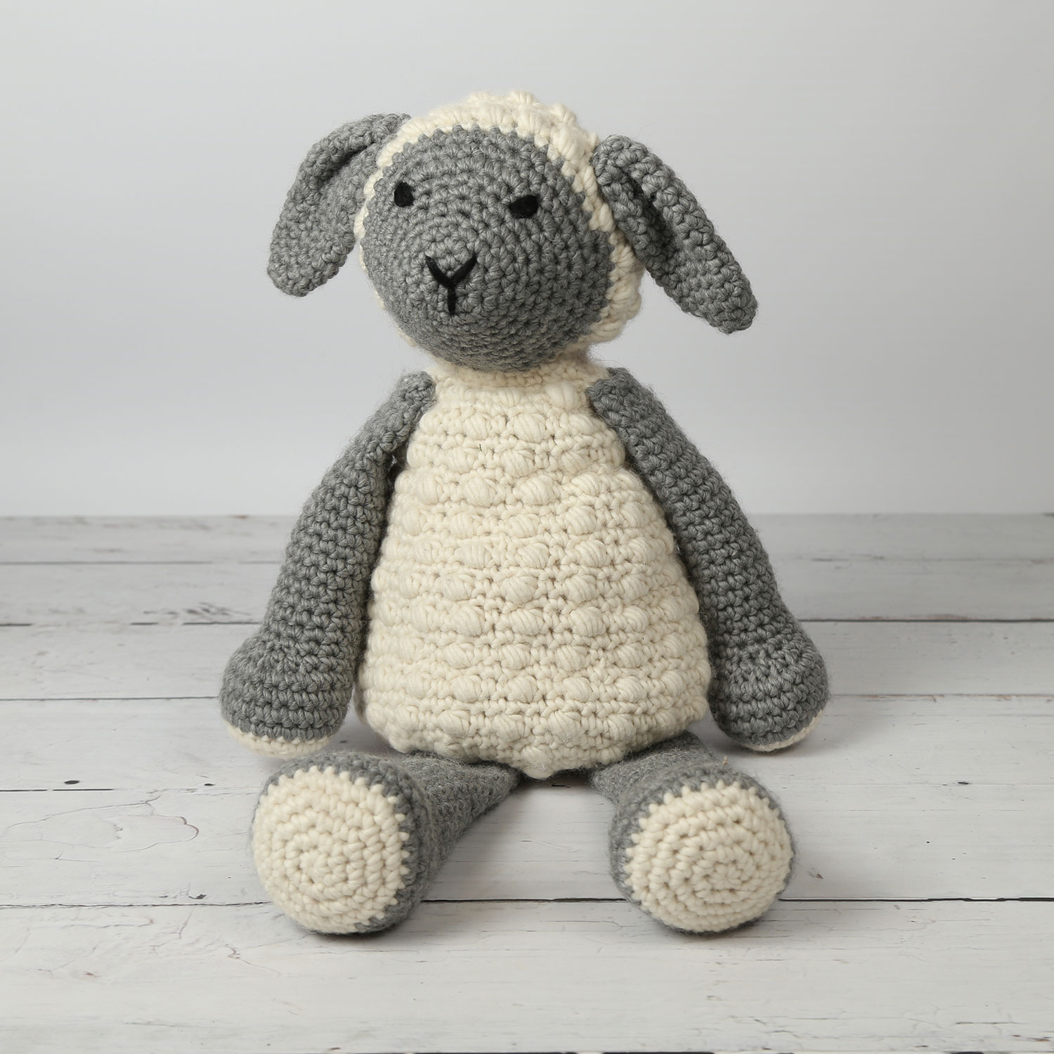 The Sweetest Crochet Lamb Patterns for Free Giant Lionel Lamb Crochet Kit Wool Couture