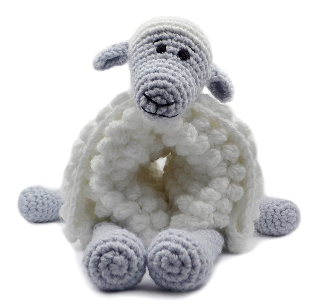 The Sweetest Crochet Lamb Patterns for Free Mary Maxim Cuddle And Play Sheep Blanket