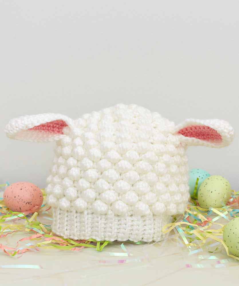The Sweetest Crochet Lamb Patterns for Free Sweet Lamb Crochet Hat Red Heart