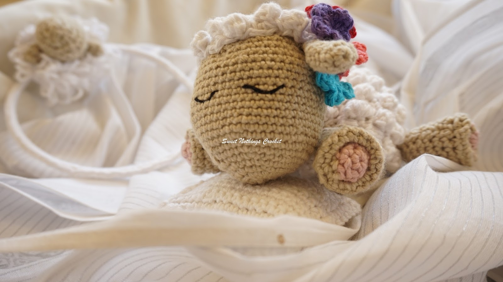 The Sweetest Crochet Lamb Patterns for Free Sweet Nothings Crochet Adorable Crochet Lamb Matching Headband