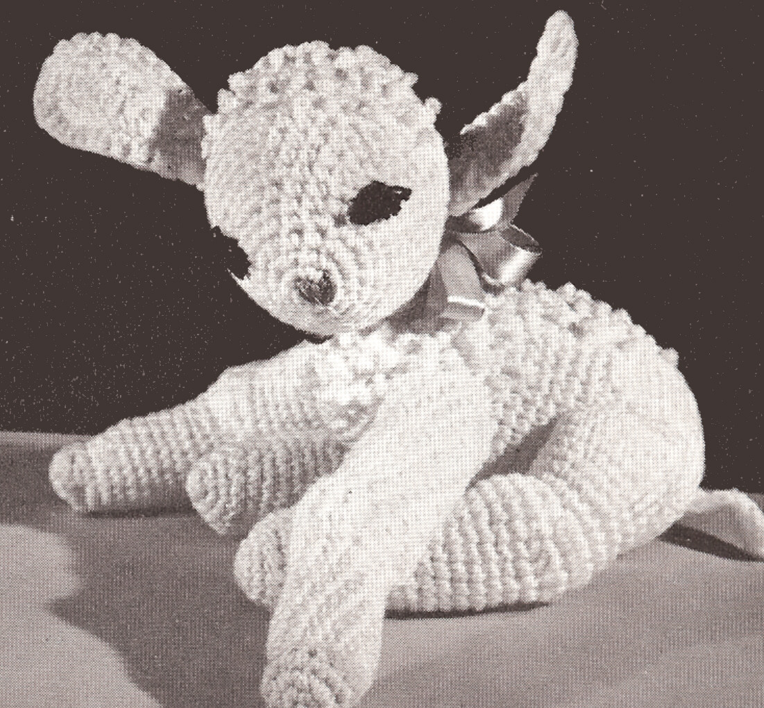The Sweetest Crochet Lamb Patterns for Free Vintage Crochet Pattern Ba Lamb Stuffed Animal Toy