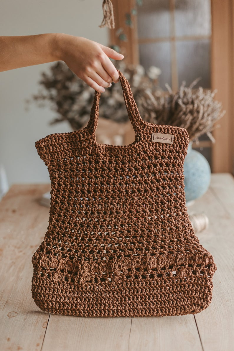 Tote Bag Patterns and Ideas that You Will Adore Crochet Pattern Crochet Tote Bag Pattern Crochet Bag Etsy
