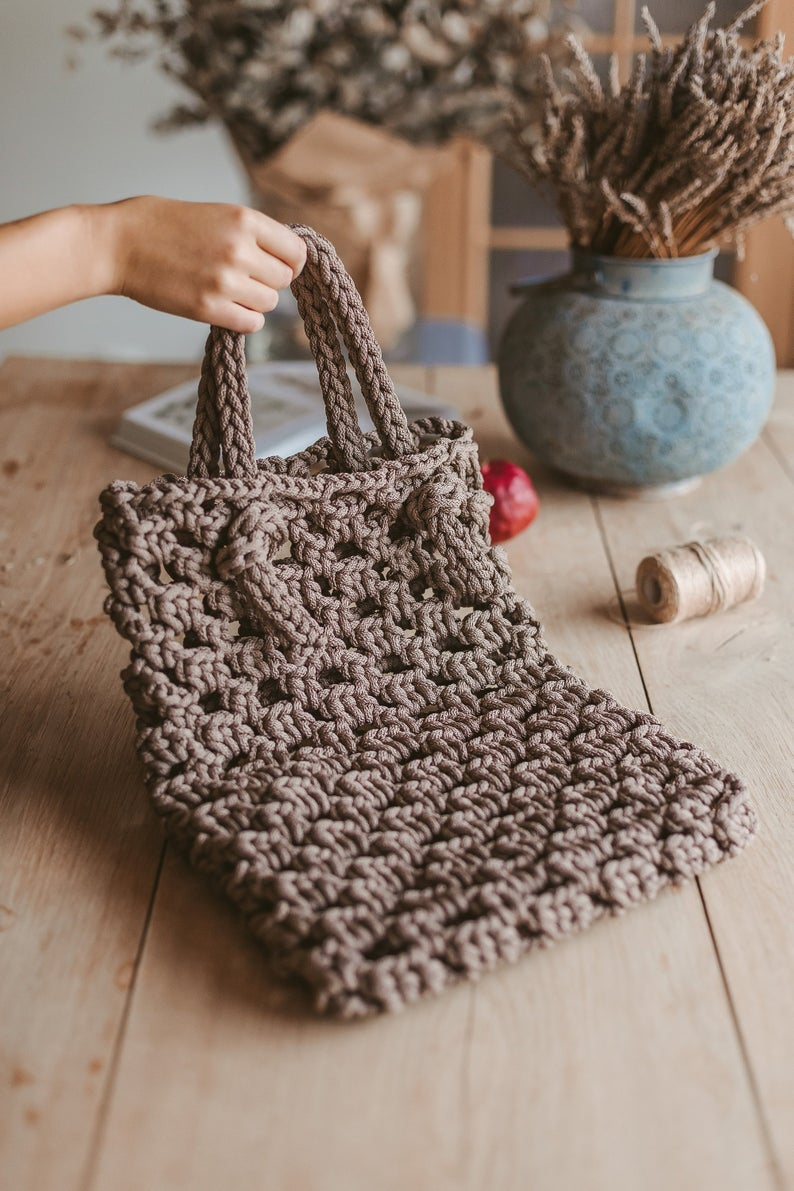 Tote Bag Patterns and Ideas that You Will Adore Crochet Tote Bag Pattern Crochet Pattern Crochet Handbag Etsy