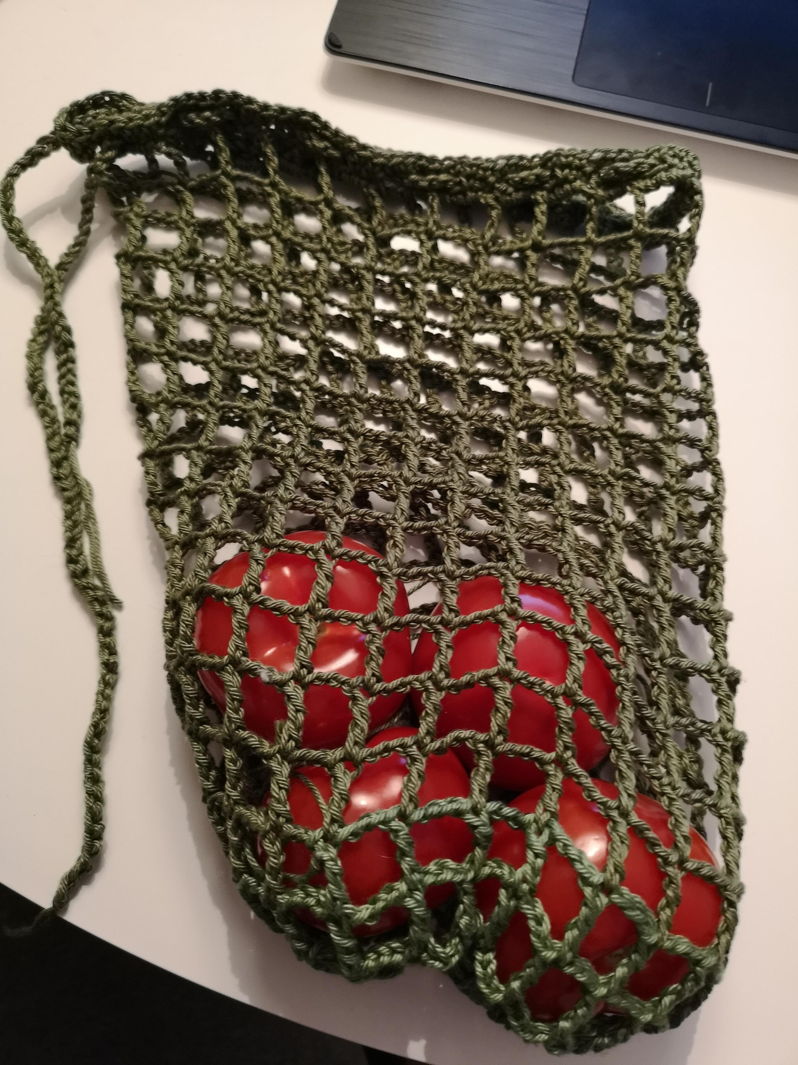 Tote Bag Patterns and Ideas that You Will Adore Used Some Leftover Yarn To Make Crochet Produce Bags Posted To