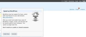 Activar Google Gears está a sólo un clic