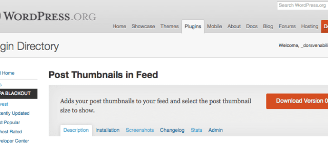 Nuevo plugin Post Thumbnails in FeedNew plugin Post Thumbnails in Feed