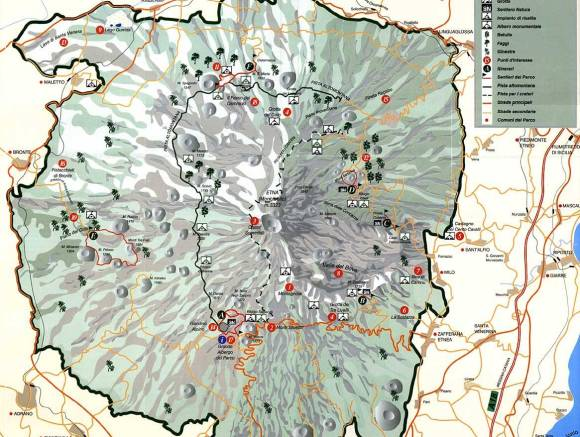 Map of Etna National Park
