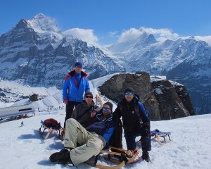 Faulhorn-Grindelwald. The longest toboggan run in Europe.