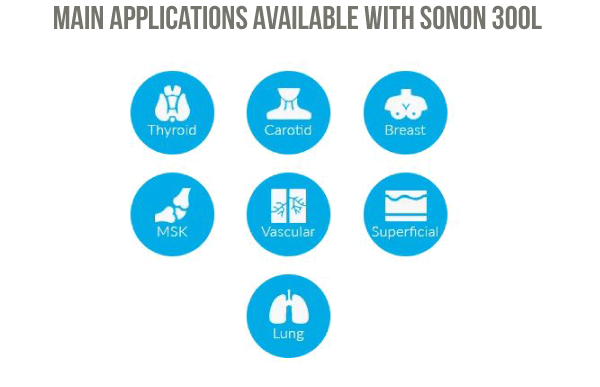 Main Applications Available with Sonon 300L