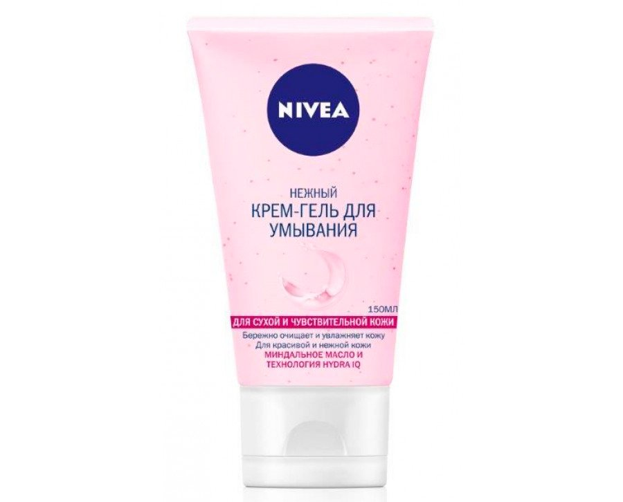 Rensing Cream Gel for vask tørr og sensitiv hud NIVEA Kilde: Noex-trade.ru