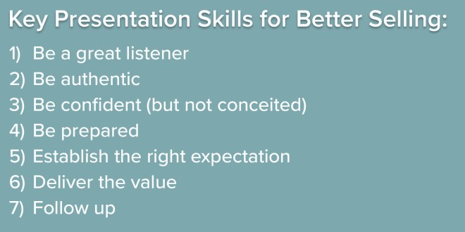 Key Presentation Skills for Better Selling2