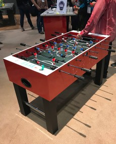 Formica booth foosball table