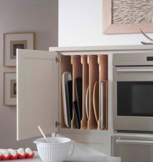 Demi-height with 2 deep drawers and adjustable vertical divider storage.