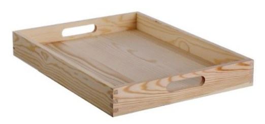 Target hand made wood tray 16 x 12 x 2