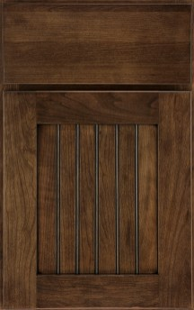 Dana Pointe Beaded Panel with slab drawer front, cherry, Eagle Rock Sable Glaze & Highlight