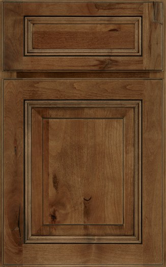 Wellington Raised Panel_knotty alder Eagle Rock with Sable Glaze & Highlight