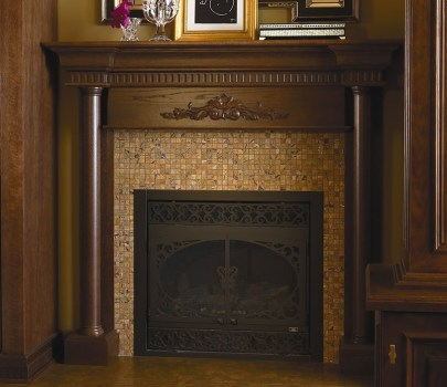 Camelot Raised Panel oak Walnut and Carriage Black Classic