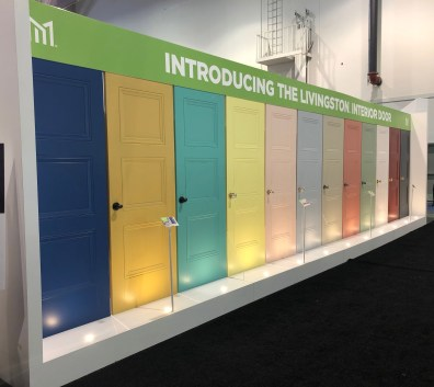 Livingston Interior doors - a rainbow of color!