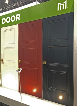 Livingston Interior doors - white, red & blue!