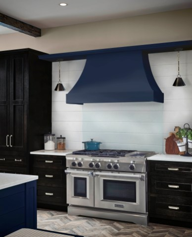 Medallion Sips & Tips Curved Hood in Tidal with Platinum Loxley Onyx and Tidal
