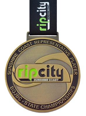 Medals Australia - Custom Designed Medals - Rip City Representative Player