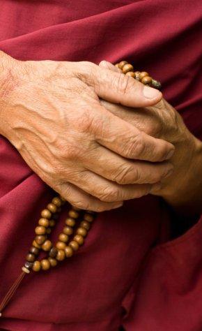 Buddhist mala (prayer) beads