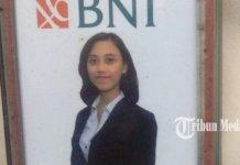 Rara Sitta pegawai Bank BNI tewas dibegal