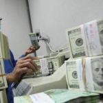 Petugas memverifikasi uang dollar AS di cash center Bank Mandiri.(KOMPAS/RIZA FATHONI)