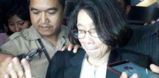 Plt Sekjen DPR Damayanti, di gedung KPK, Kuningan, Jakarta, Rabu (22/11/2017).(Kompas.com/Robertus Belarminus)