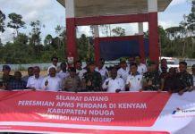 Pembukaan tempat Agen Penyalur Minyak Solar untuk pertama kalinya di Kenyam, Kabupaten Nduga oleh Pertamina MOR VIII Maluku-Papua. (Humas Pertamina MOR VIII Maluku-Papua)
