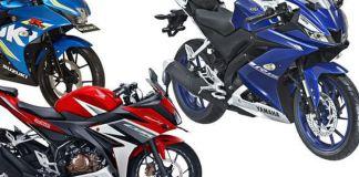 Adu spesifikasi Honda CBR150R, Yamaha R15, dan Suzuki GSX-R150.(istimewa)