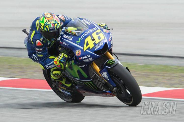 Valentino Rossi di Sirkuit Sepang, Malaysia, Jumat (27/10/2017).(Crash.net)
