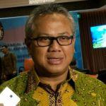 Ketua Komisi Pemilihan Umum (KPU) RI, Arief Budiman ketika ditemui di hotel Borobudur, Jakarta, Jumat, (15/12/2017). (KOMPAS.com/ MOH NADLIR)