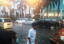 Banjir di Plaza Medan Fair