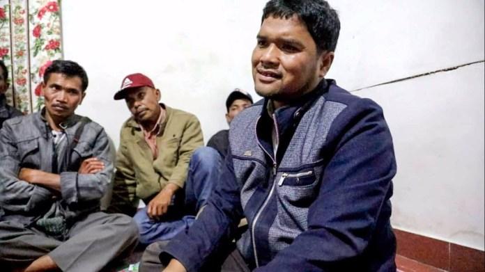 Tokoh Masyarakat Amir Silaban saat berkomentar tentang Kuminser