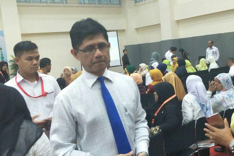 Wakil Ketua KPK Laode M Syarif di Gedung KPK, Jakarta, Senin (13/11/2017).(KOMPAS.com/IHSANUDDIN)