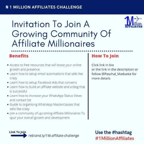 Benefits of the affiliate marketing challenge
