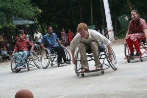 Me playing wheelchair basketball