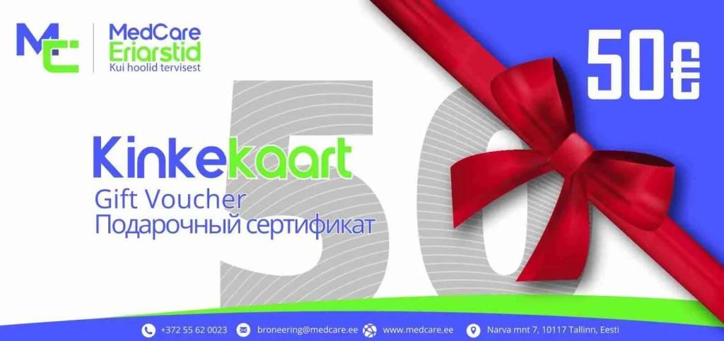 Kinkekaart MedCare Eriarstid Erakliinik Tallinnas