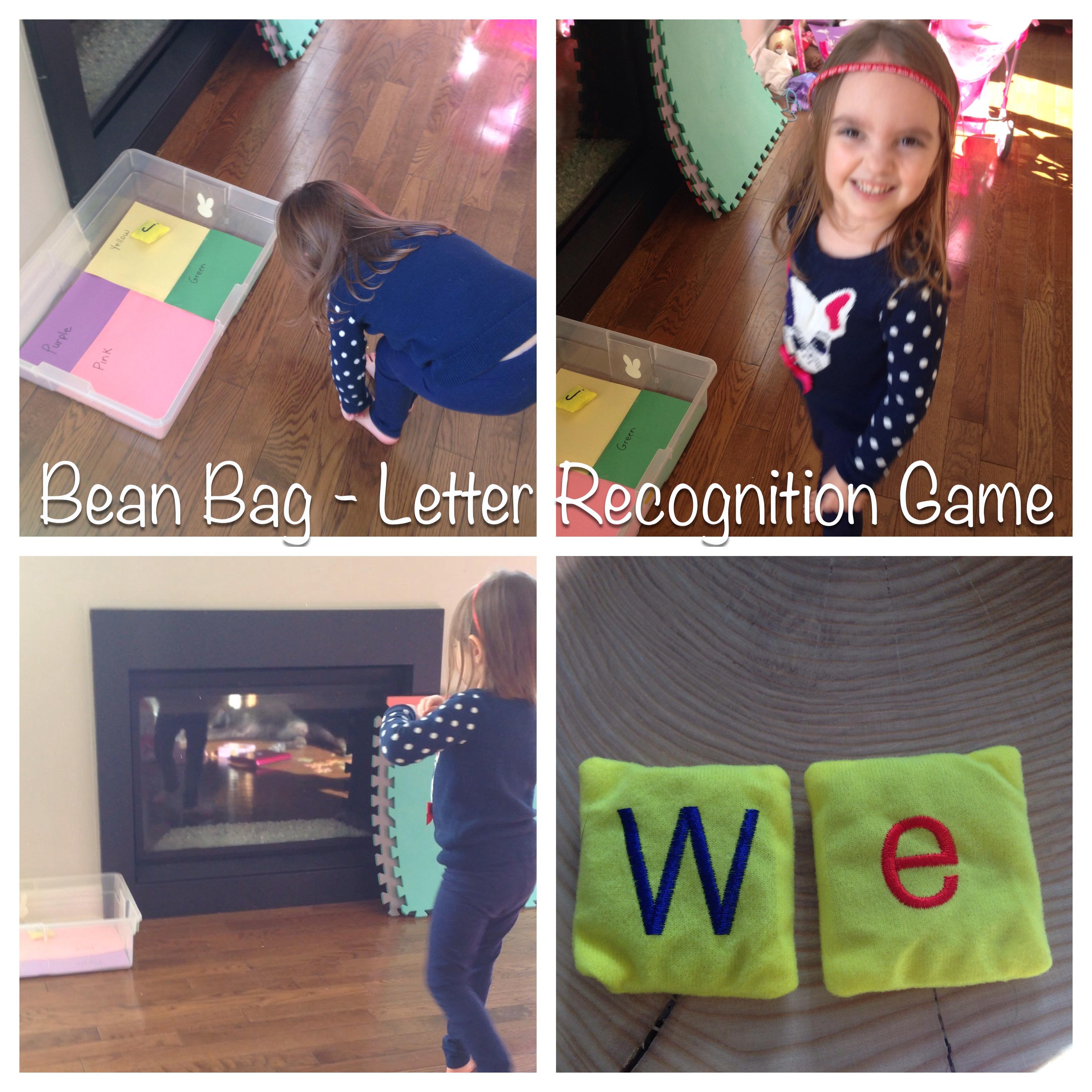 Bean Bag Toss Letter Recognition Game