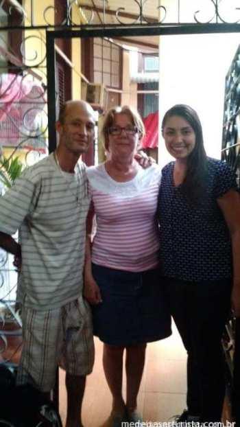 O Henrique e a Leo, minha família cubana