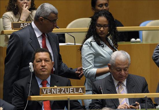 Presidente venezolano, Hugo Chávez en la ONU