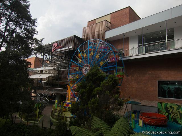 Mini ferris wheel at El Tesoro